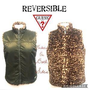 {GUESS} reversible vest.
